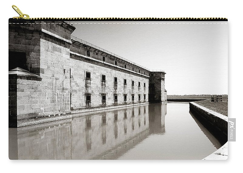 Water Carry-all Pouch featuring the photograph Moat Around Fort Delaware by Trish Tritz