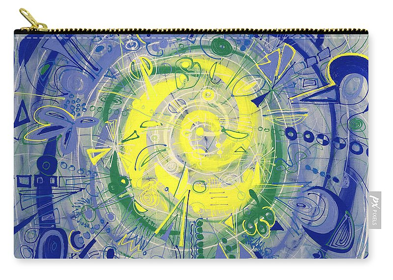 Abstract Carry-all Pouch featuring the painting Modern Art Five by Lynne Taetzsch
