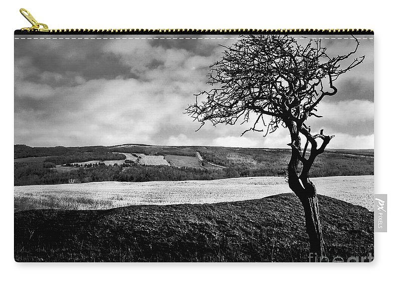 Tree Carry-all Pouch featuring the photograph Moisonnerie Bw by Aimelle