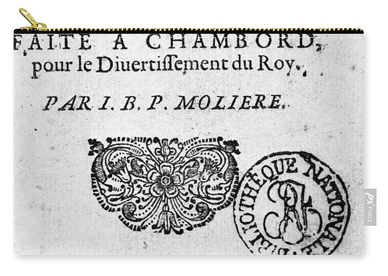 1670 Carry-all Pouch featuring the photograph Moliere (1622-1773) by Granger
