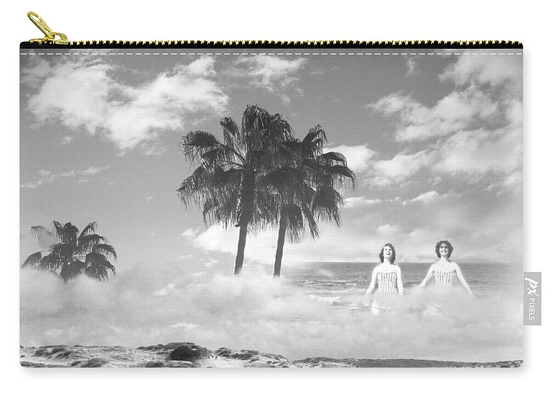 Beach Carry-all Pouch featuring the photograph Mom's Tropical Dreams Bw by Kathleen Grace