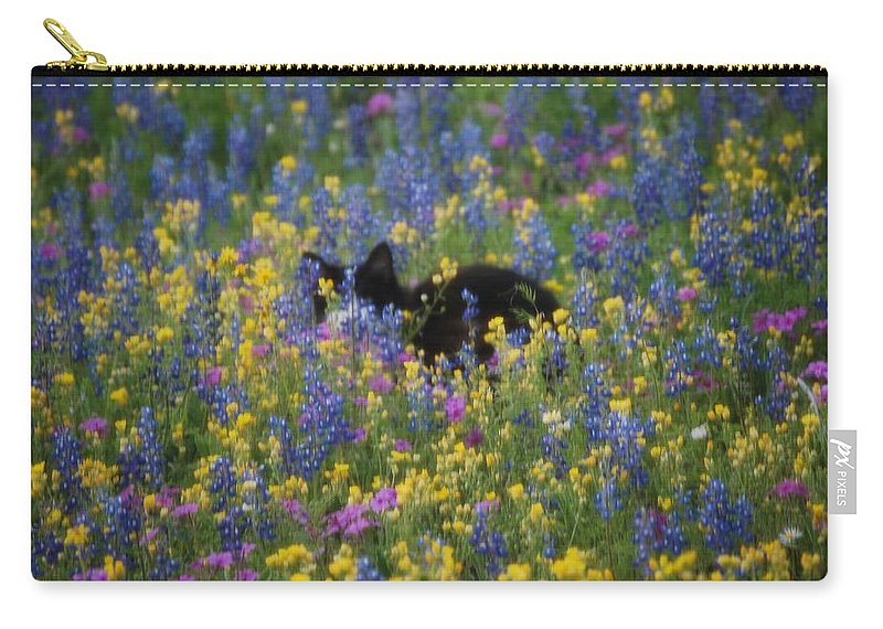 Cat Carry-all Pouch featuring the photograph Monet's Cat by Beth Gates-Sully