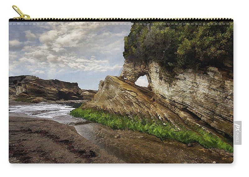 Bluffs Carry-all Pouch featuring the digital art Montana De Oro Bluffs by Sharon Foster