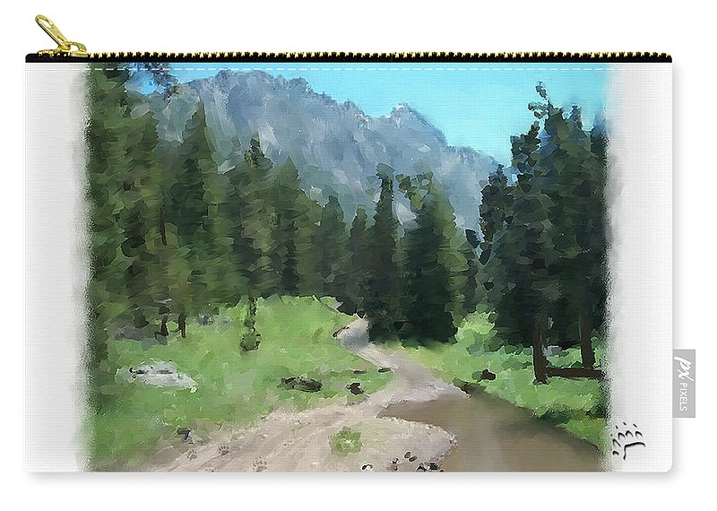 Digital Painting Carry-all Pouch featuring the painting Montana Mudhole by Susan Kinney