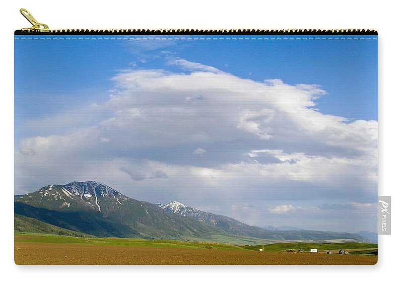 Montana Carry-all Pouch featuring the photograph Montana Ploughed Earth Field by Douglas Barnett
