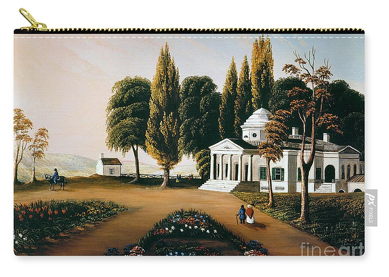 19th Century Carry-all Pouch featuring the photograph Monticello by Granger
