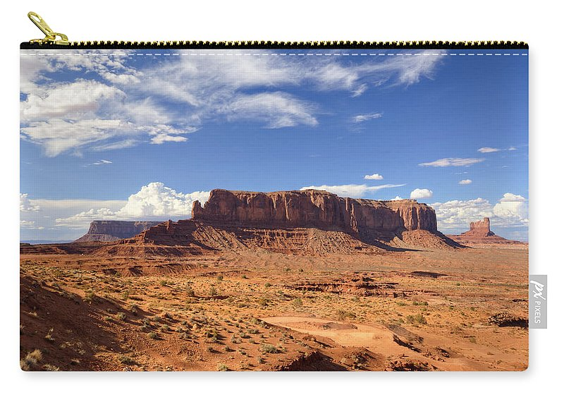 Monument Valley Carry-all Pouch featuring the photograph Monument Valley Arizona by Saija Lehtonen
