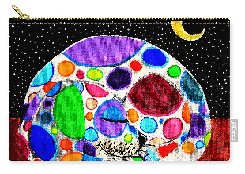 Dog Carry-all Pouch featuring the painting Moon Doggy by Nick Gustafson