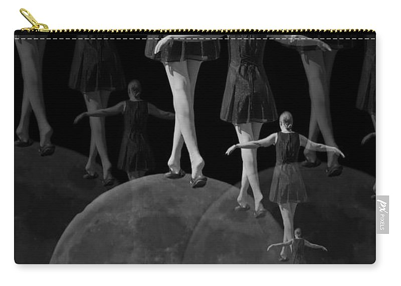 Moon Carry-all Pouch featuring the digital art Moon Walking by Betsy Knapp