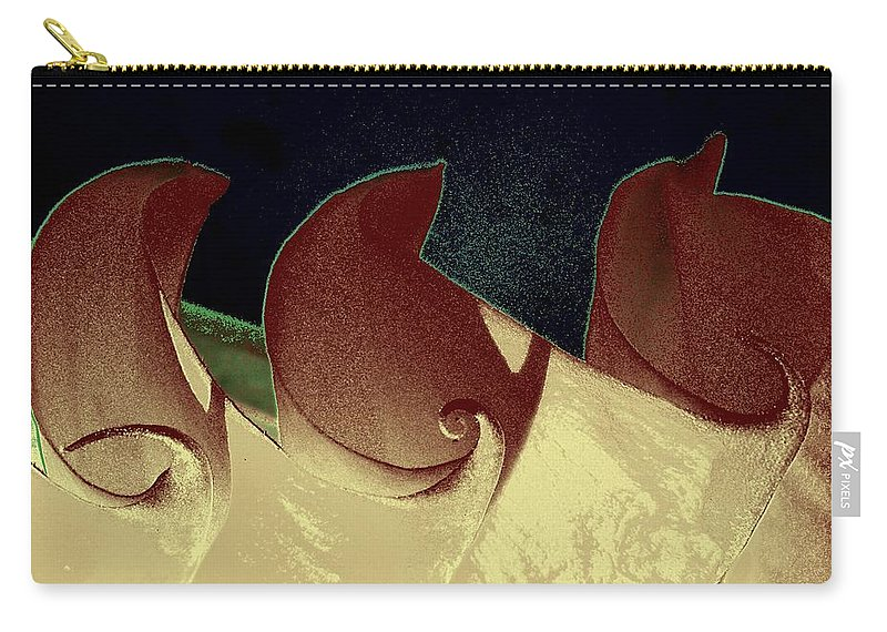 Datura Carry-all Pouch featuring the photograph Moon Waves by Chris Berry