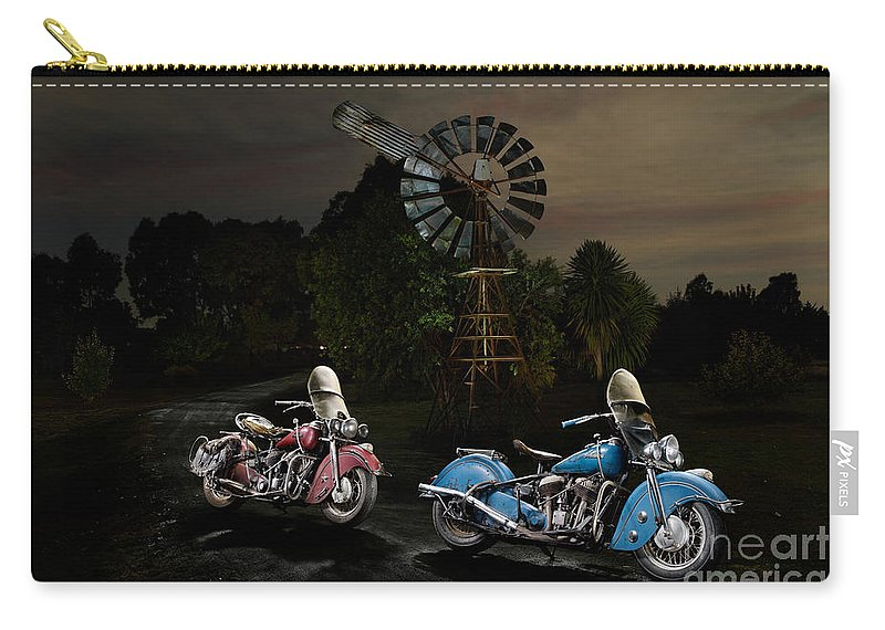 Bike Carry-all Pouch featuring the photograph Moonlight Indian Chief by Frank Kletschkus