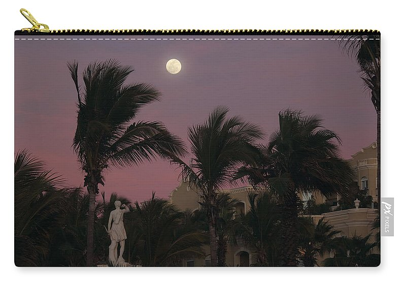 Vacation Carry-all Pouch featuring the photograph Moonlit Resort by Shane Bechler