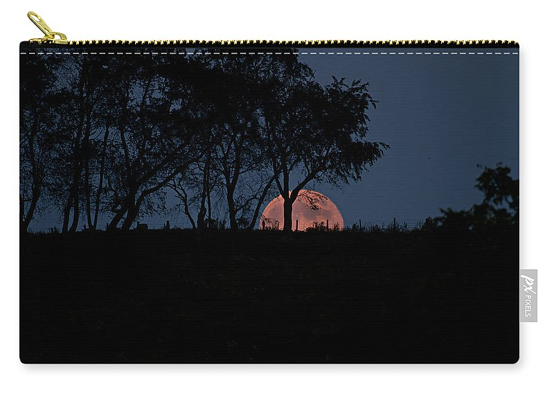 Moon Carry-all Pouch featuring the photograph Moonscape by Betsy Knapp