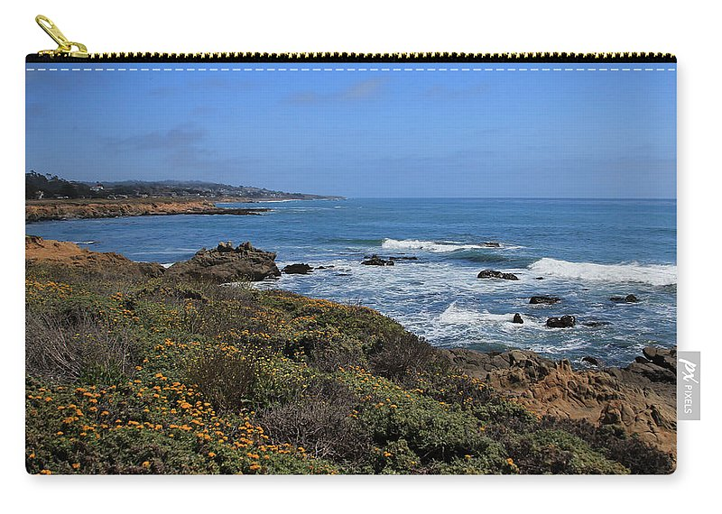 Moonstone Carry-all Pouch featuring the photograph Moonstone Beach by Heidi Smith