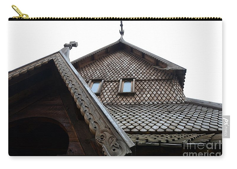 Moorhead Stave Church Carry-all Pouch featuring the photograph Moorhead Stave Church 13 by Cassie Marie Photography