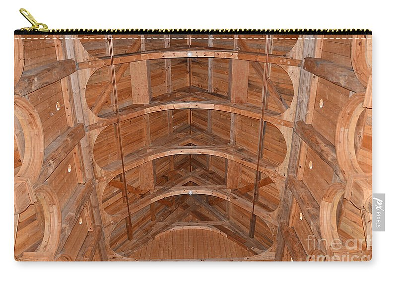 Moorhead Stave Church Carry-all Pouch featuring the photograph Moorhead Stave Church 20 by Cassie Marie Photography