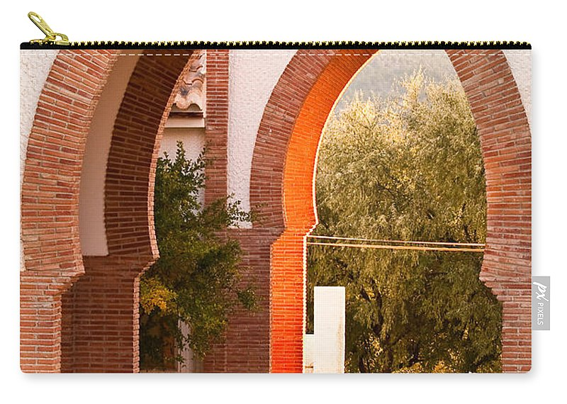 Andalusia Carry-all Pouch featuring the photograph Moorish Arches by Tom Gowanlock