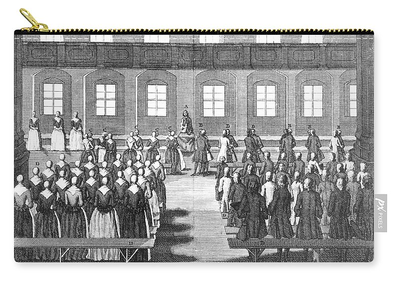 1757 Carry-all Pouch featuring the photograph Moravians, 1757 by Granger