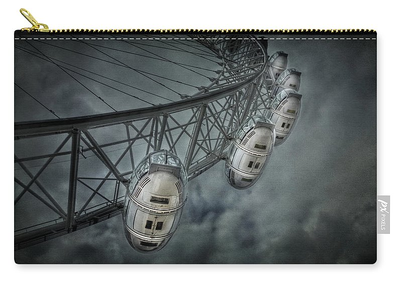 London Carry-all Pouch featuring the photograph More Then Meets The Eye by Evelina Kremsdorf