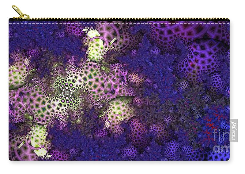 Fractal Carry-all Pouch featuring the digital art Morel by Ron Bissett