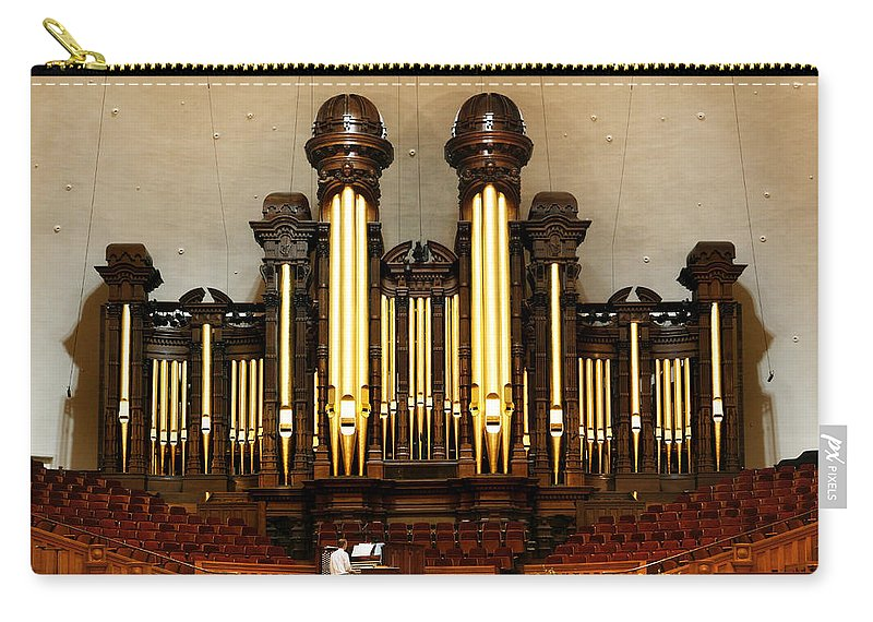 Mormon Carry-all Pouch featuring the photograph Mormon Tabernacle Pipe Organ by Marilyn Hunt