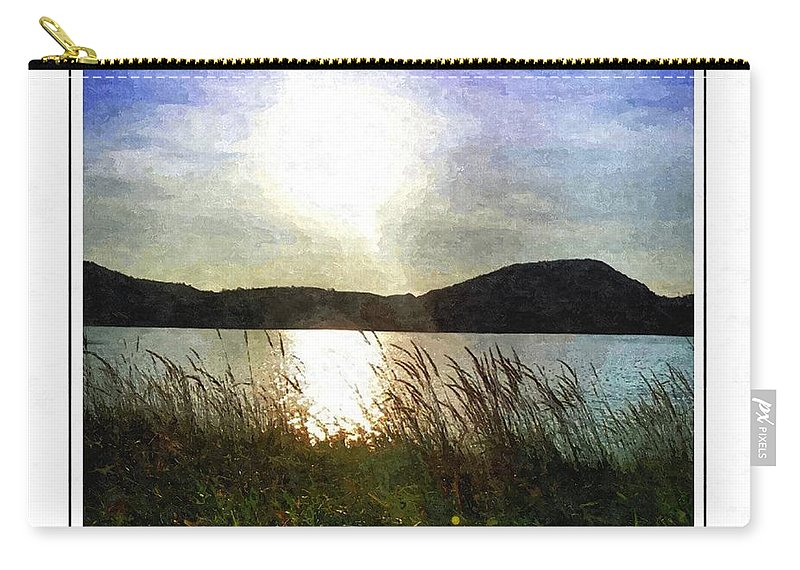 Morning At The Lake Carry-all Pouch featuring the photograph Morning At The Lake by Barbara Griffin