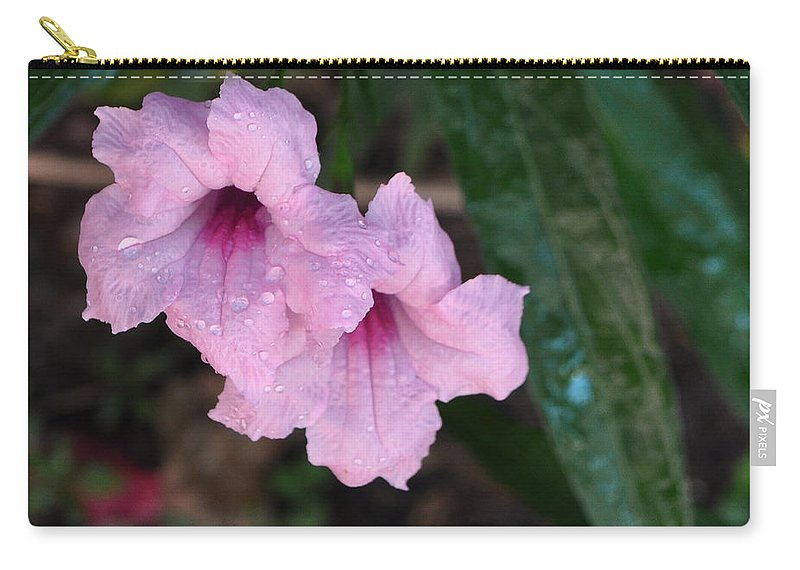 Pink Carry-all Pouch featuring the photograph Morning Dew by Mickey Krause