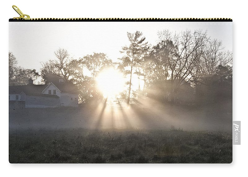 Morning Light At Valley Forge Farm Carry-all Pouch featuring the photograph Morning Light At Valley Forge Farm by Bill Cannon