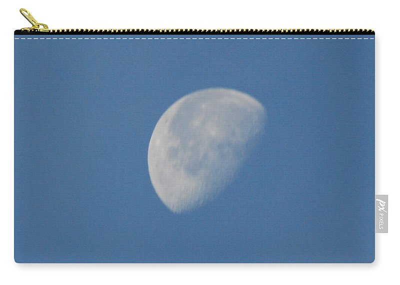 Moon Carry-all Pouch featuring the photograph Morning Moon by Michael Merry
