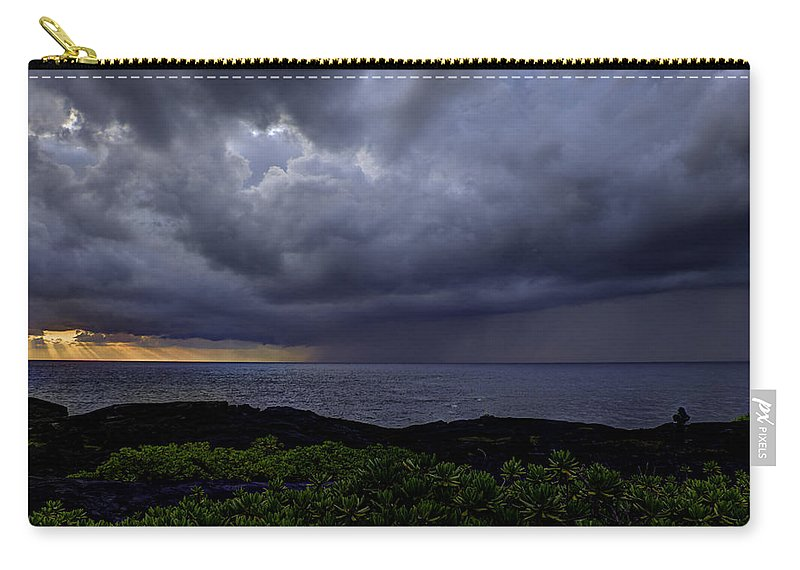 Sunrise Carry-all Pouch featuring the photograph Morning Squall by Mike Herdering