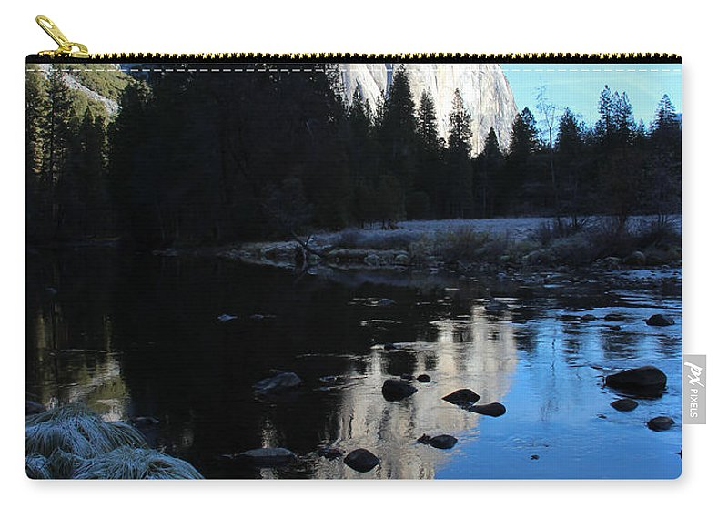 Yosemite Carry-all Pouch featuring the photograph Morning Sunlight On El Cap by Heidi Smith