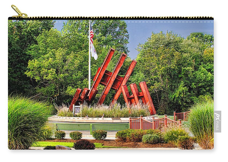 11 Carry-all Pouch featuring the photograph Morris Plains September 11th Memorial by Nick Zelinsky