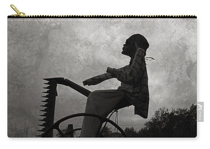 Grim Reaper Carry-all Pouch featuring the photograph Mortality Road by John Stephens