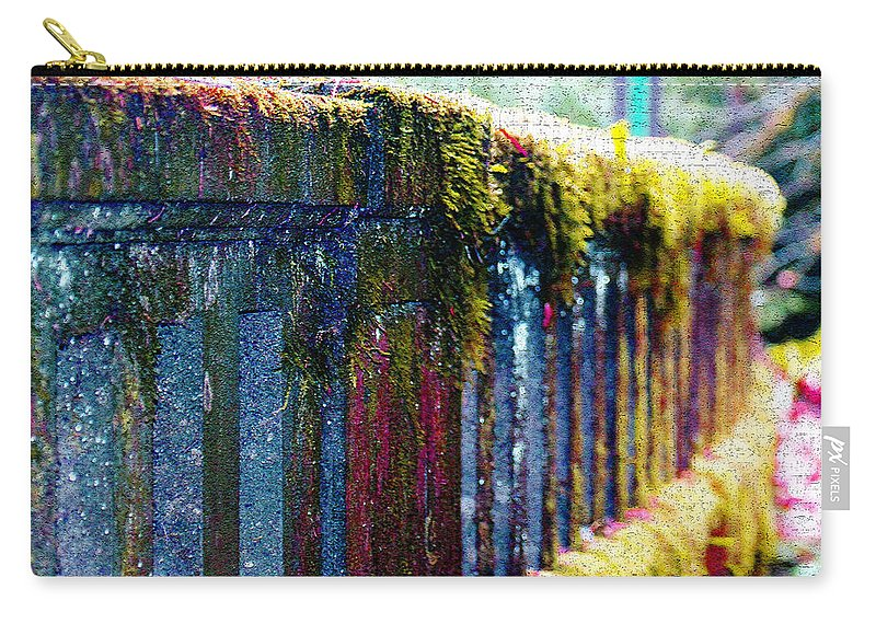 Bridges Carry-all Pouch featuring the photograph Moss Covered Bridge by Marie Jamieson