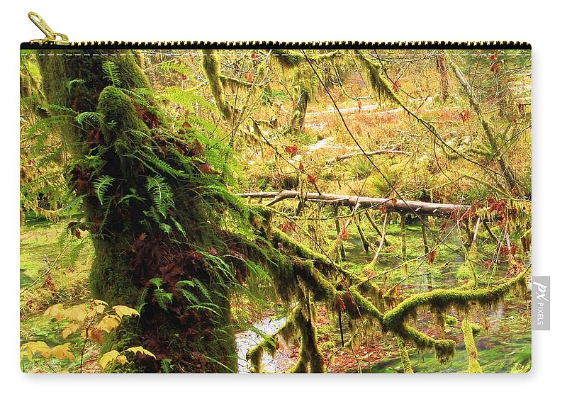 Hoh Rainforest Carry-all Pouch featuring the photograph Mossy Bend by Adam Jewell