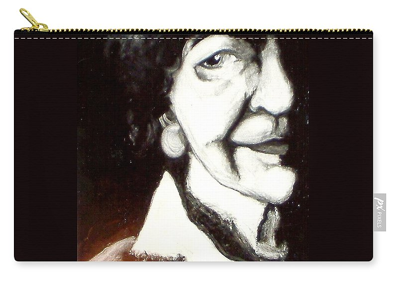 Oil Carry-all Pouch featuring the painting Mother by Carrie Maurer