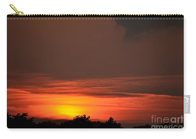 Mountain Carry-all Pouch featuring the photograph Mountain High Glow by Maria Urso