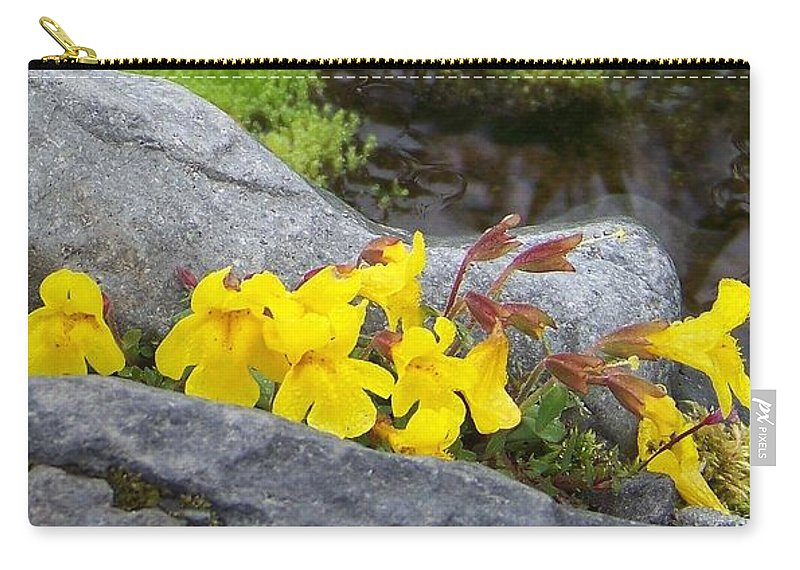 Mountain Monkey Flower Carry-all Pouch featuring the photograph Mountain Monkey Flower by Charles Robinson