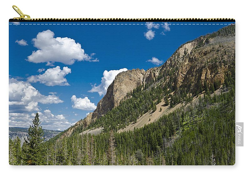 Yellowstone National Park Carry-all Pouch featuring the photograph Mountain View by Jon Berghoff