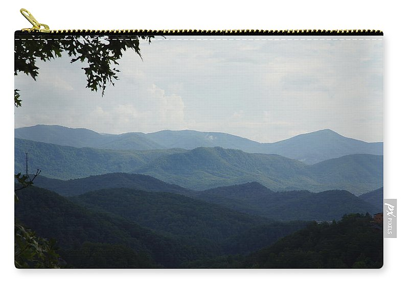 Smoky Mountains Carry-all Pouch featuring the photograph Mountains by Megan Cohen