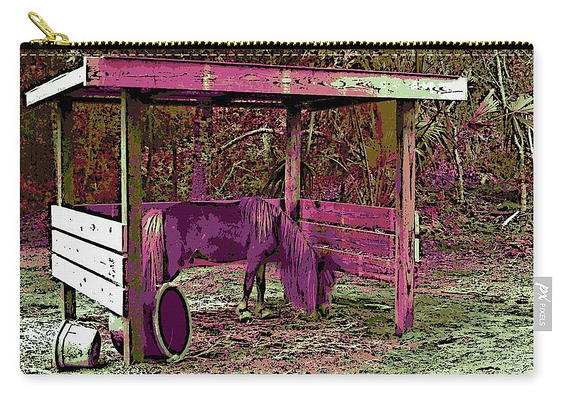 Mr. Nibbles Carry-all Pouch featuring the photograph Mr. Nibble's New Home by George Pedro