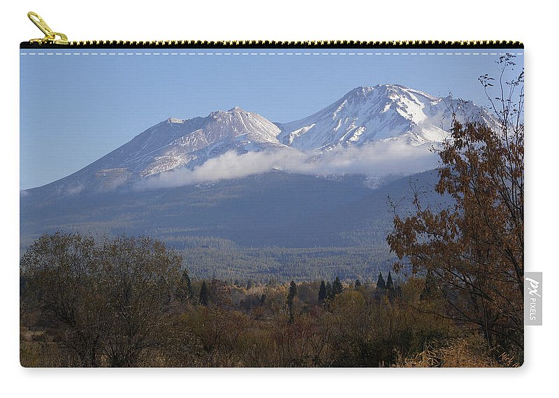 Road Carry-all Pouch featuring the photograph Mt Shasta Autumn II by Mick Anderson