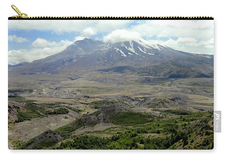 Photos Of Mt St Helens Photographs Photographs Carry-all Pouch featuring the photograph Mt St Helens 3 by Christy Leigh