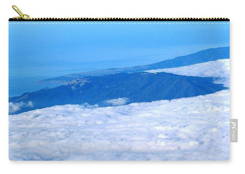 Tamalpais Carry-all Pouch featuring the photograph Mt Tamalpais From The Air by Ben Upham III