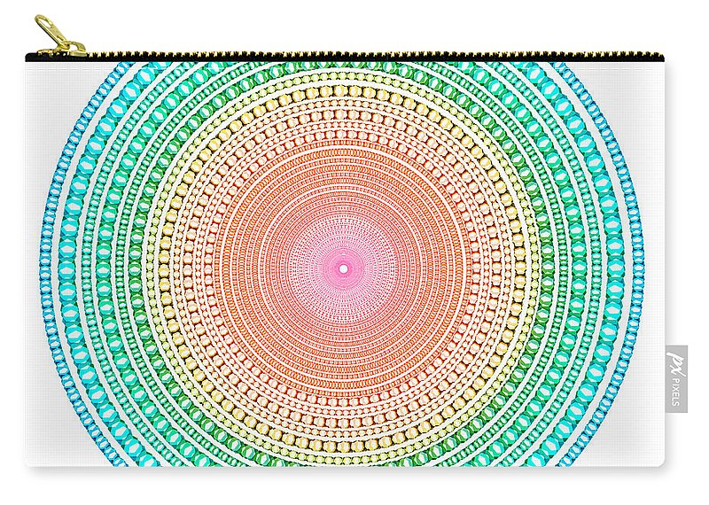 Abstract Carry-all Pouch featuring the digital art Multicolor Circle by Atiketta Sangasaeng