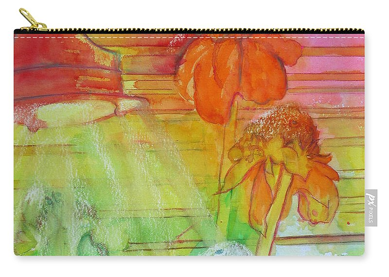 Watercolor Carry-all Pouch featuring the painting Multicolor Gingers by Estela Robles