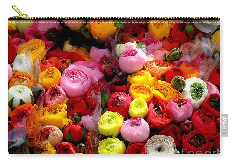 Flowers Carry-all Pouch featuring the photograph Multicolor by Lainie Wrightson
