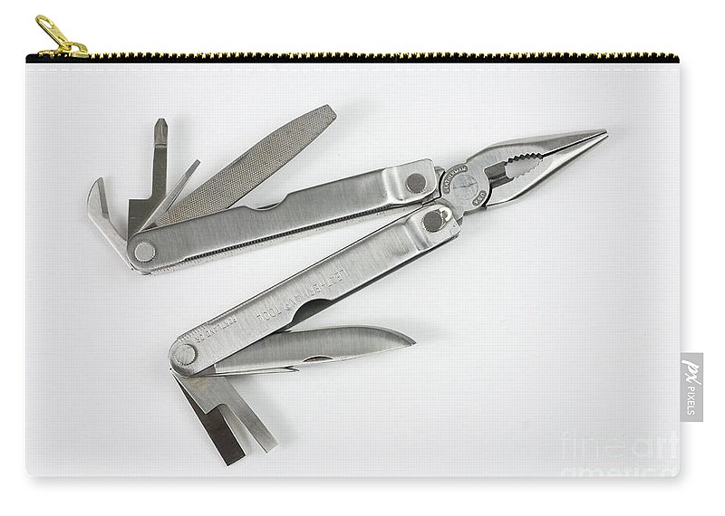 Multi-tool Carry-all Pouch featuring the photograph Multitool by Photo Researchers, Inc.