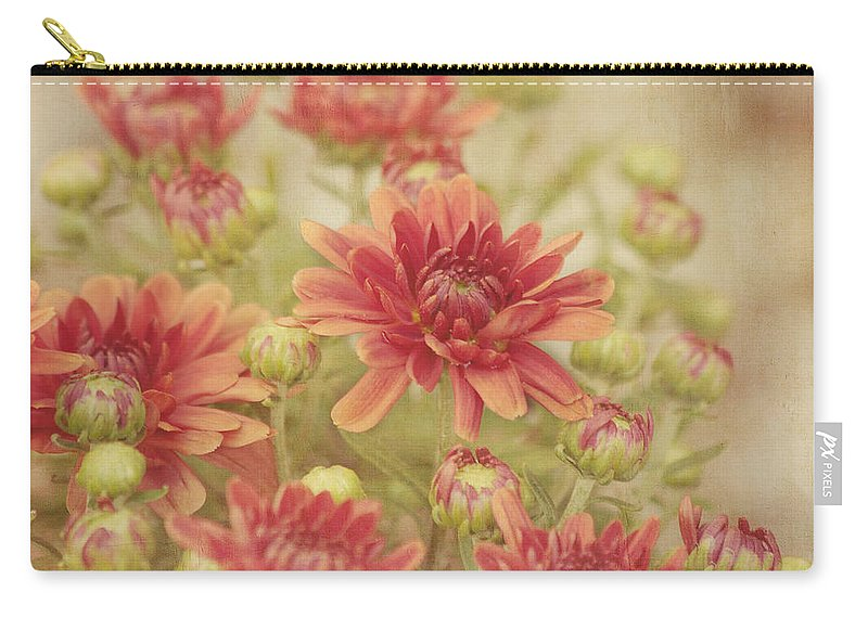 Flower Carry-all Pouch featuring the photograph Mums The Word by Kim Hojnacki
