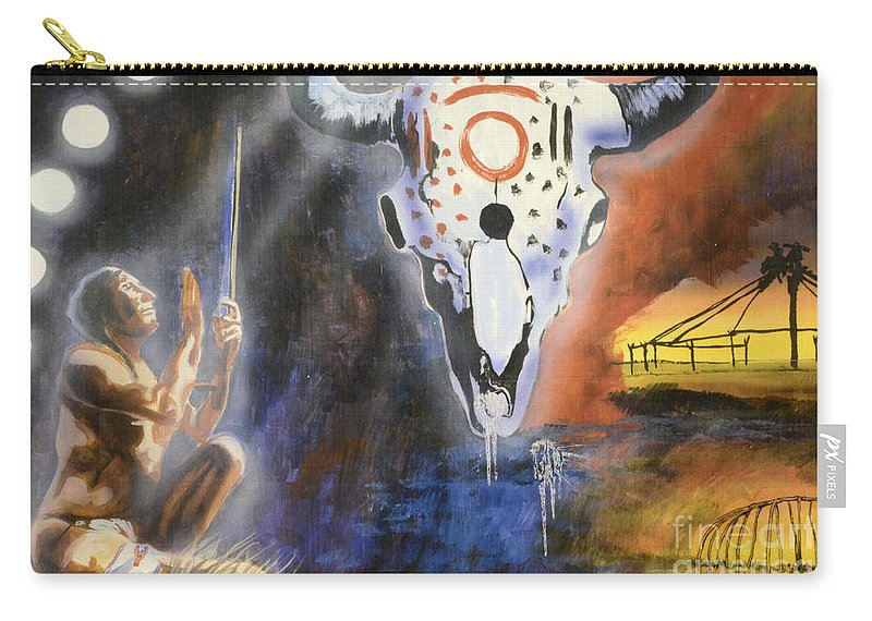 Medicine Hat Carry-all Pouch featuring the photograph Mural Art by Bob Christopher